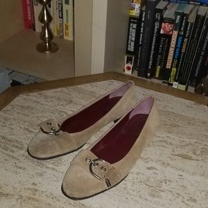 Coach Buckle Shoes Tan / Suede Combo Size 7